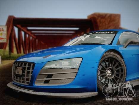 Audi R8 LMS v2.0.4 DR para GTA San Andreas vista traseira