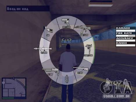 GTA 5 HUD v2 para GTA San Andreas sexta tela
