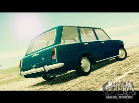 Fiat 124 Familiare para GTA San Andreas esquerda vista