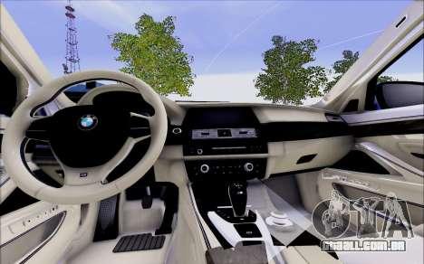 BMW 550 F10 xDrive para GTA San Andreas vista direita