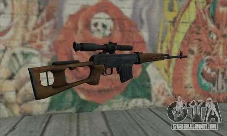 Dragunov Sniper Rifle para GTA San Andreas segunda tela
