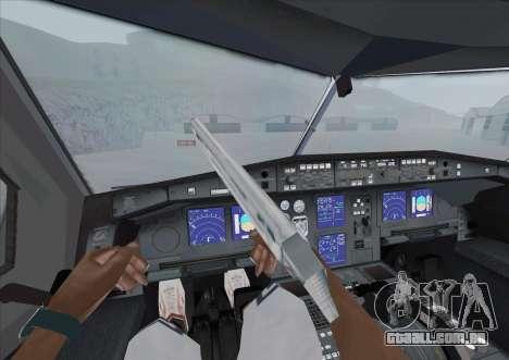 Airbus A340-600 para GTA San Andreas vista traseira