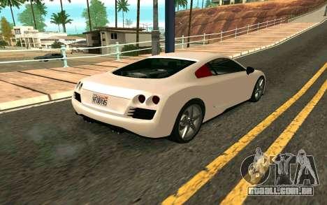 GTA V Obey 9F Version 2 FIXED para GTA San Andreas esquerda vista
