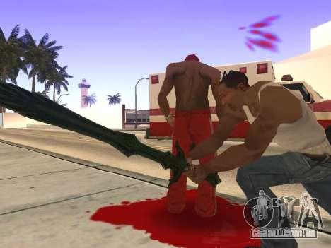 Vidro Espada de Skyrim para GTA San Andreas por diante tela
