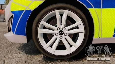 Hyundai i40 2013 Metropolitan Police [ELS] para GTA 4 vista de volta