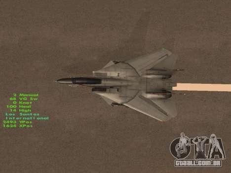 F-14 Tomcat HQ para o motor de GTA San Andreas