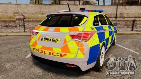 Hyundai i40 2013 Metropolitan Police [ELS] para GTA 4 traseira esquerda vista