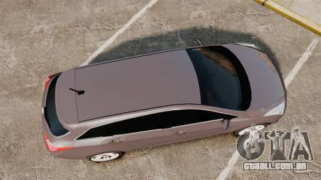 Hyundai i40 2013 Unmarked Police [ELS] para GTA 4 vista direita