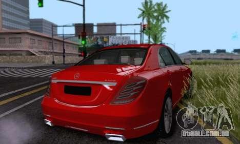 Mercedes-Benz W222 para GTA San Andreas vista interior