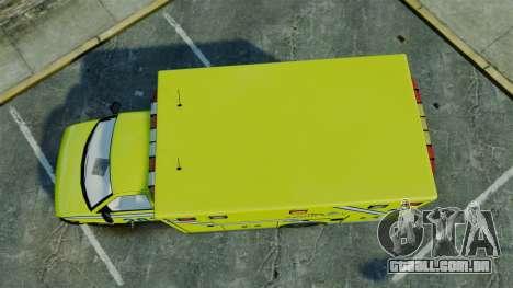 Brute New Liberty Ambulance [ELS] para GTA 4 vista direita
