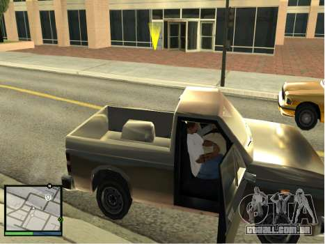 GTA 5 HUD v2 para GTA San Andreas por diante tela