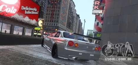 Nissan Skyline GTR-34 Nismo Z-Tune para GTA 4 traseira esquerda vista