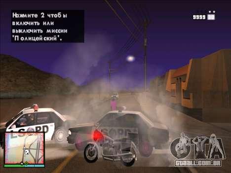 GTA 5 HUD v2 para GTA San Andreas