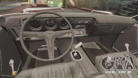 Oldsmobile Toronado 1966 para GTA 4 vista de volta