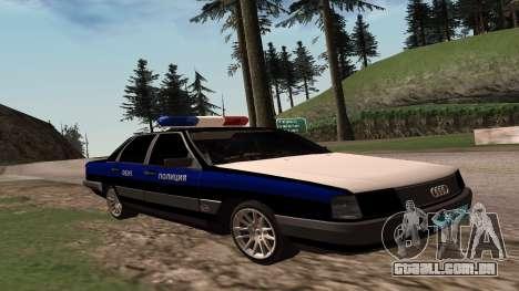 Audi 100 a Polícia ОБЭП para GTA San Andreas traseira esquerda vista