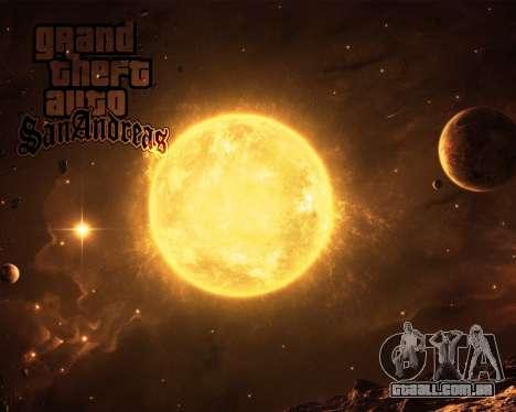 Novas telas de inicialização Espaço para GTA San Andreas por diante tela
