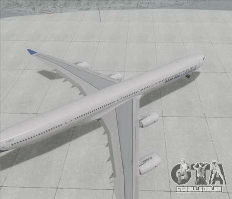 Airbus A340-600 para GTA San Andreas traseira esquerda vista