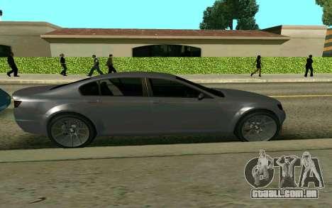 GTA V Fugitive para GTA San Andreas traseira esquerda vista