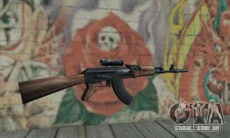 AK-47 Silencer para GTA San Andreas segunda tela
