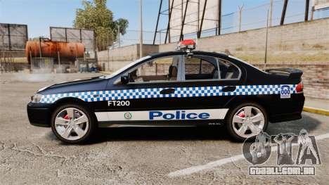 Ford BF Falcon XR6 Turbo Police [ELS] para GTA 4 esquerda vista