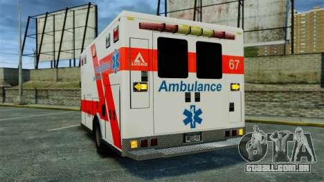 Brute Luxaid Ambulance [ELS] para GTA 4 traseira esquerda vista
