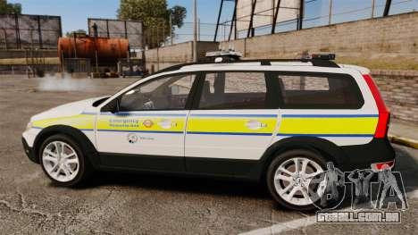 Volvo XC70 Emergency Response Unit [ELS] para GTA 4 esquerda vista