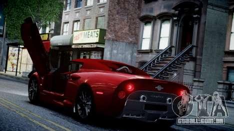Spyker C8 Aileron Spyder v2.0 para GTA 4 vista inferior