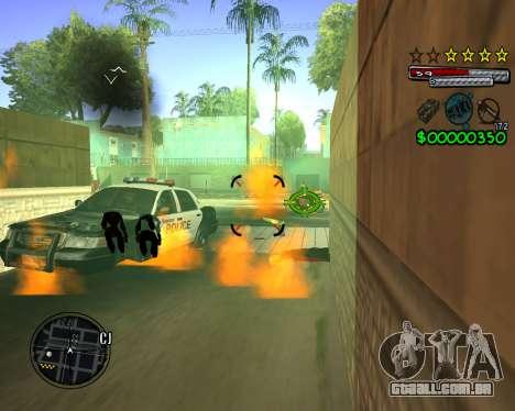 C-HUD by Santoro para GTA San Andreas por diante tela