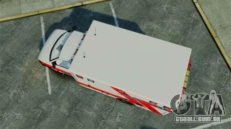 Brute Luxaid Ambulance [ELS] para GTA 4 vista direita
