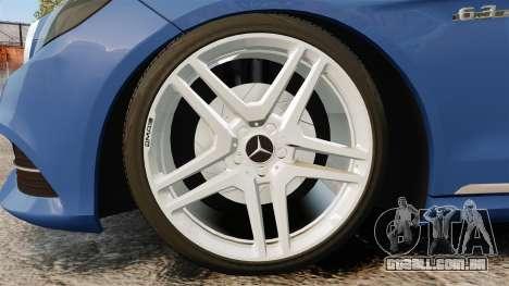 Mercedes-Benz E63 AMG 2014 para GTA 4 vista de volta