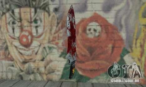 Large bloody knife para GTA San Andreas