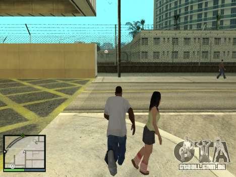 GTA 5 HUD v2 para GTA San Andreas quinto tela