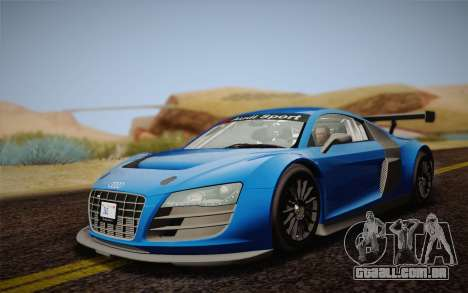Audi R8 LMS v2.0.4 DR para GTA San Andreas esquerda vista
