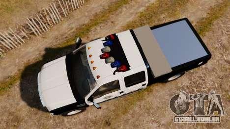 Ford F-250 Super Duty Police [ELS] para GTA 4 vista direita