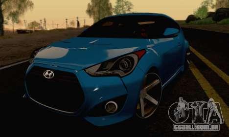 Hyundai Veloster para GTA San Andreas vista traseira