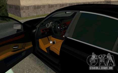 BMW 530xd para GTA San Andreas traseira esquerda vista
