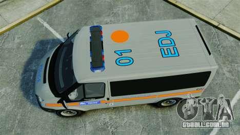 Ford Transit Metropolitan Police [ELS] para GTA 4 vista direita