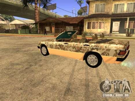 Mercedes-Benz 190E Army para GTA San Andreas vista traseira