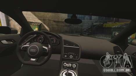 Audi R8 V10 plus Coupe 2014 [EPM] para GTA 4 vista lateral