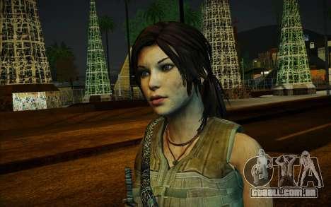 Tomb Raider Lara Croft Guerilla Outfit para GTA San Andreas segunda tela
