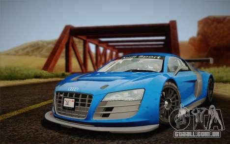 Audi R8 LMS v2.0.4 DR para GTA San Andreas traseira esquerda vista