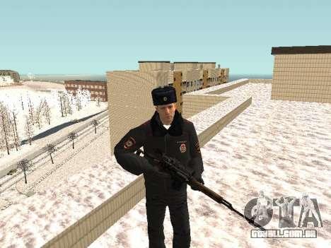 Pak policiais no inverno uniformes para GTA San Andreas sétima tela