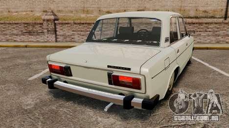 UTILIZANDO-2106 Lada para GTA 4 traseira esquerda vista