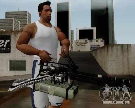 Renegades Minigun Black para GTA San Andreas terceira tela
