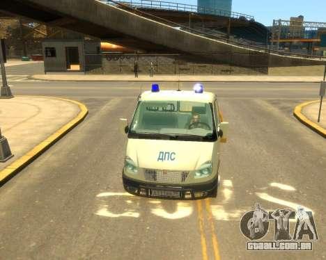 Gazela Evacuador DPS para GTA 4 traseira esquerda vista