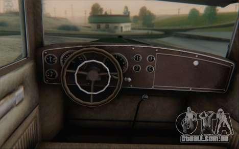 Albany Roosevelt from GTA V para GTA San Andreas traseira esquerda vista