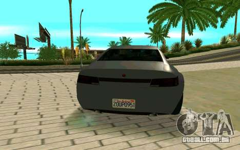 GTA V Fugitive Version 2 FIXED para GTA San Andreas traseira esquerda vista