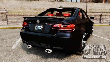 BMW M3 E92 AC Schnitzer ACS3-Sport v2.0 para GTA 4 traseira esquerda vista