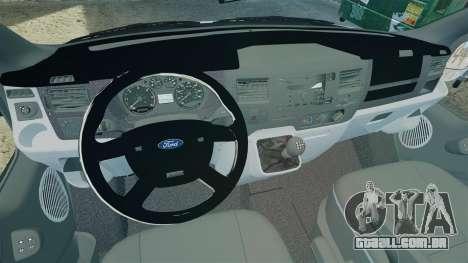 Ford Transit Metropolitan Police [ELS] para GTA 4 vista de volta