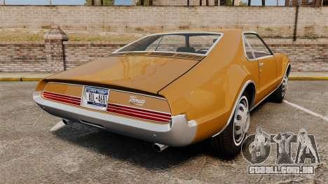 Oldsmobile Toronado 1966 para GTA 4 traseira esquerda vista